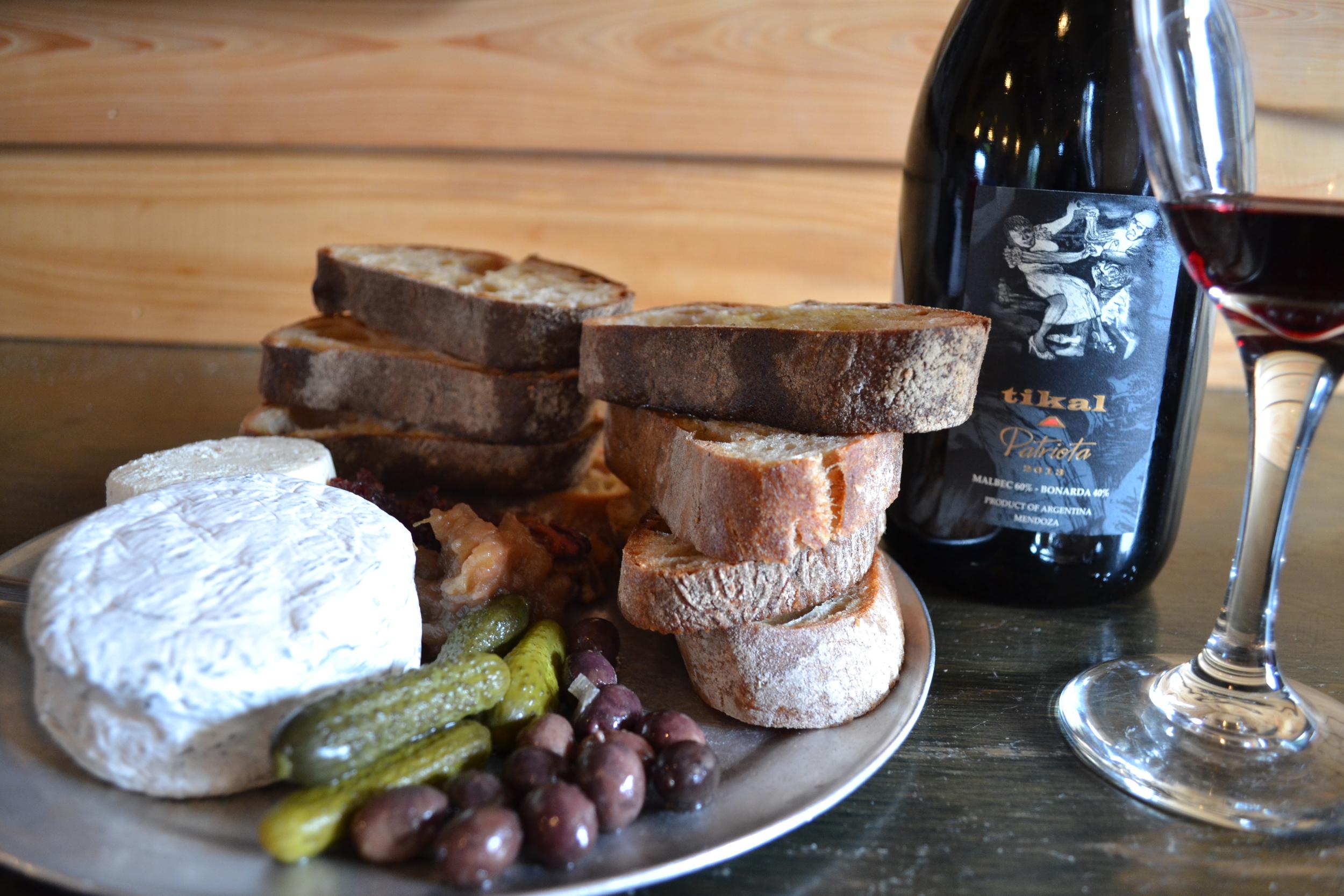 Beautiful Cheeses and Wine at Bacchanal