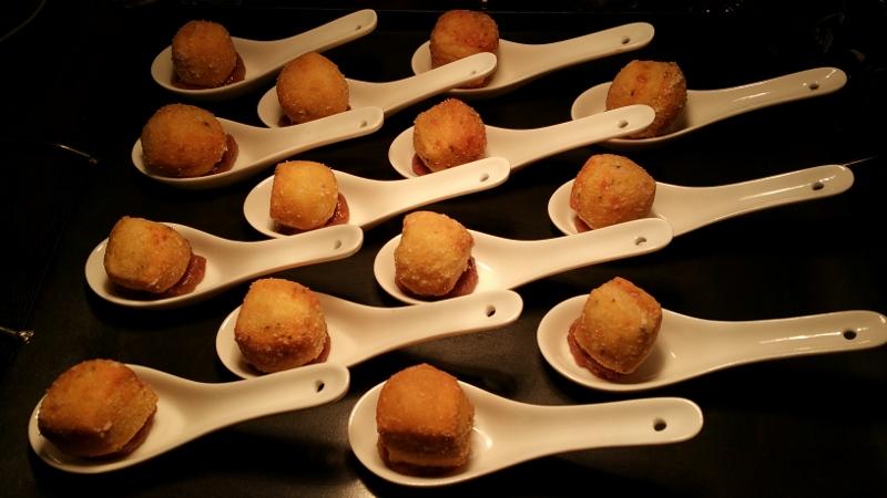Springhill Suite Infinite Monkey pairing menu - Parmigiano Zeppoli, Apricot Jam, Sous Vide St. Germaine chicken pate.jpg