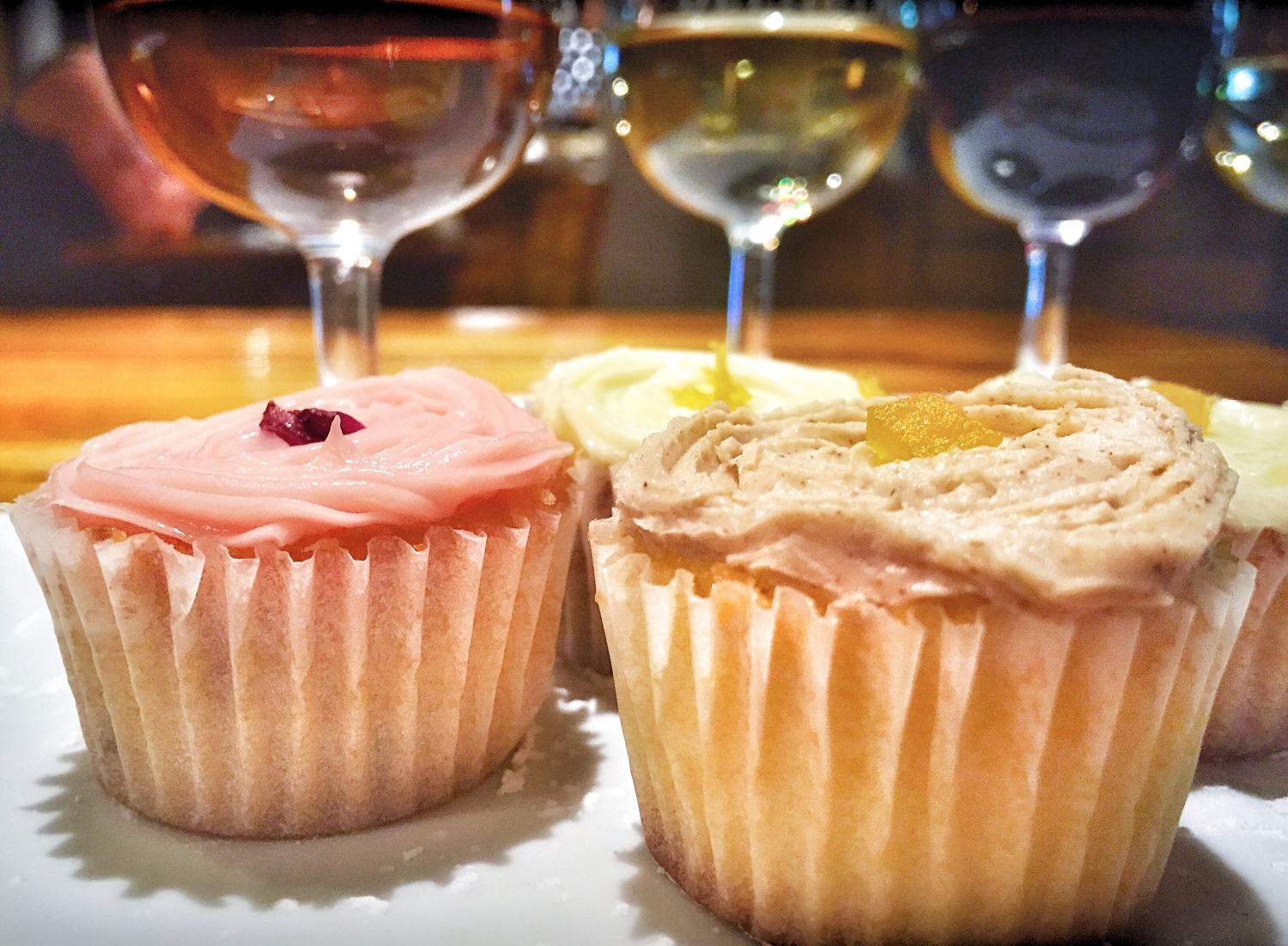 My favorite was the pumpkin cupcake with the Pinotage - a sweet and spicy pairing.