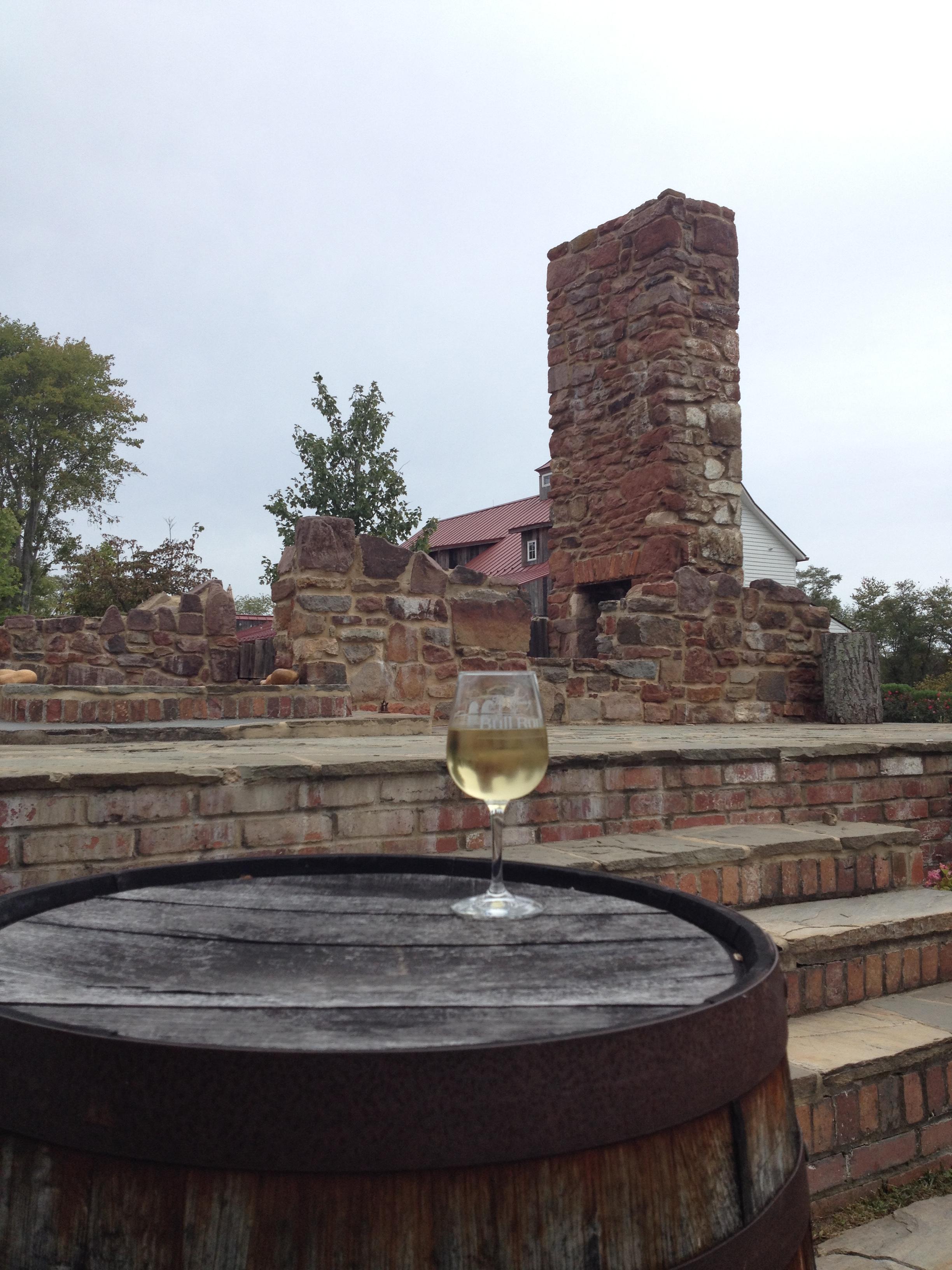 Wine among the ruins.