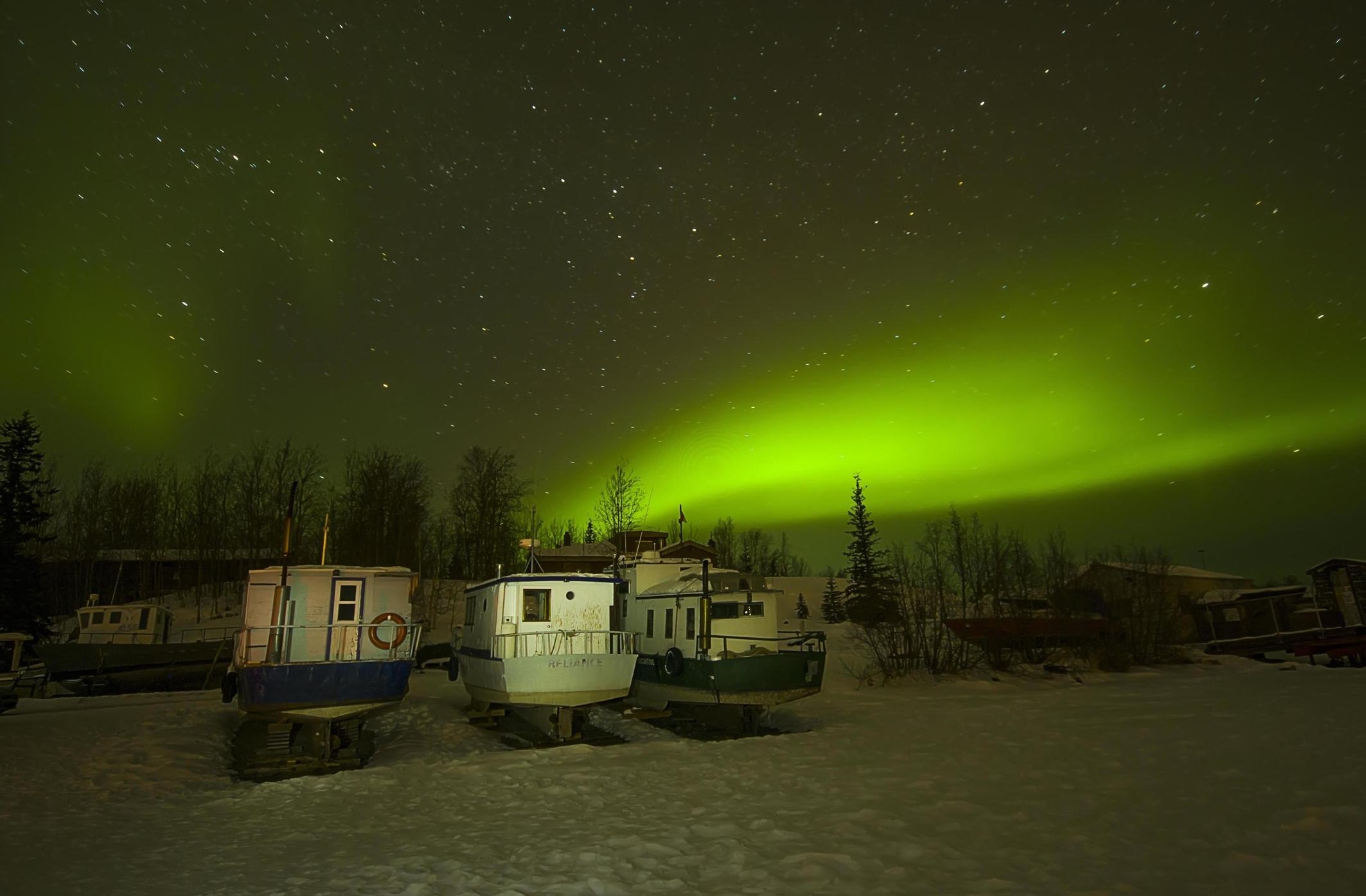 NORTHERN LIGHTS: Aurora Borealislis, Yellowknife