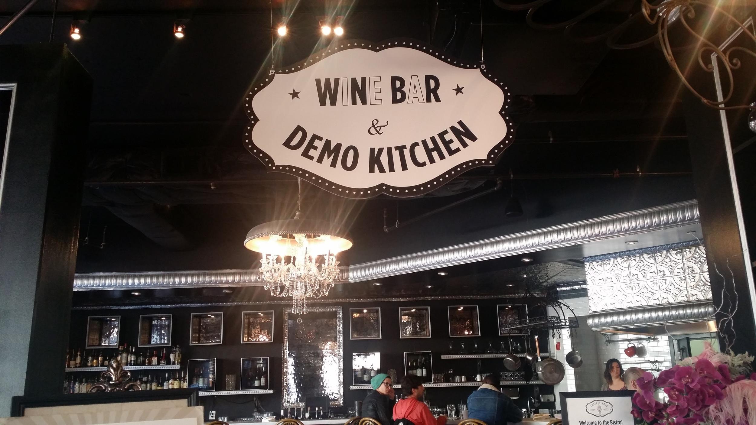 Society Fair's Wine Bar and Demo Kitchen