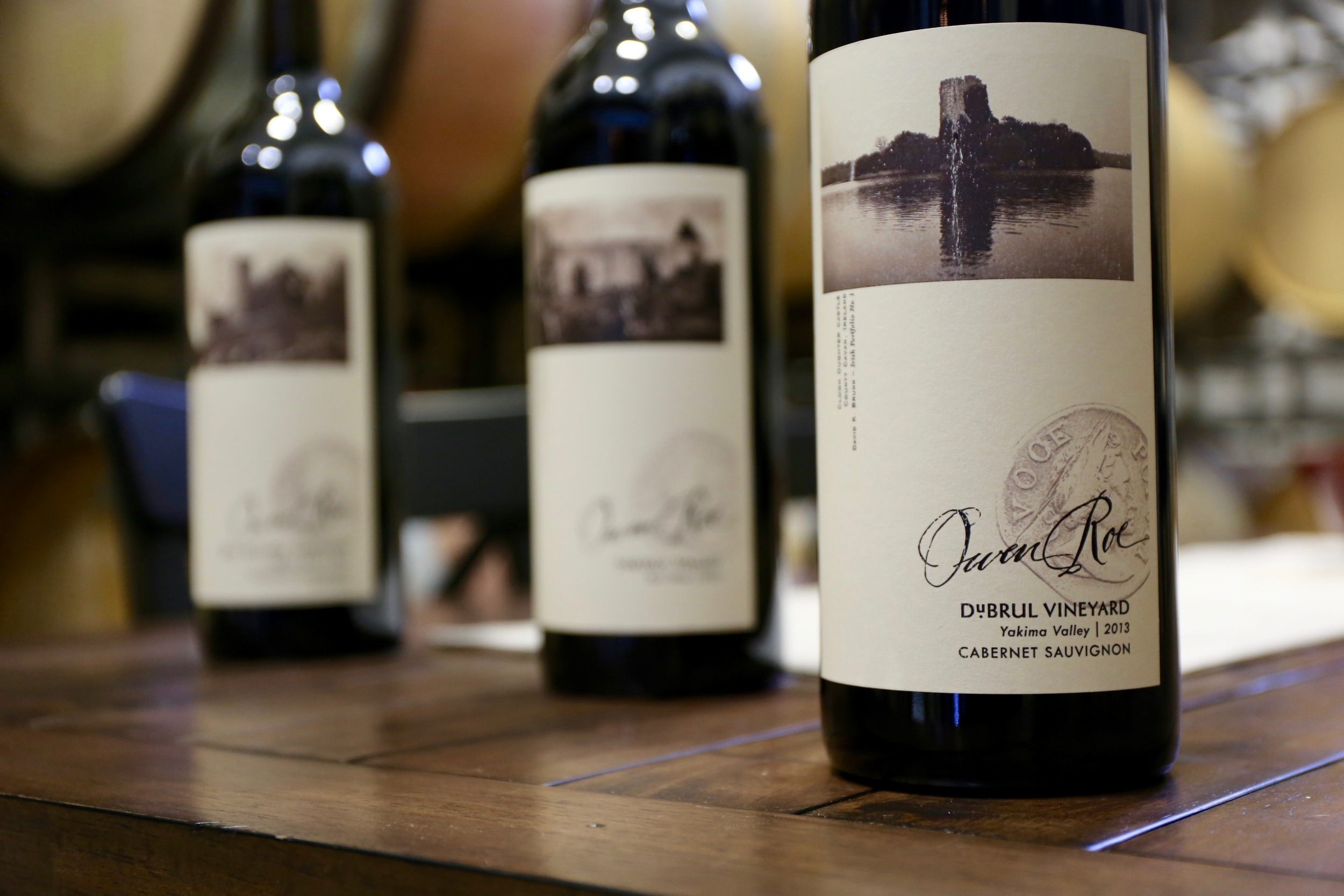 Owen Roe wines in the Oregon winery cellar and private tasting room, featuring their three core vineyards--Red Willow, Union Gap, and DuBrul 3.jpg