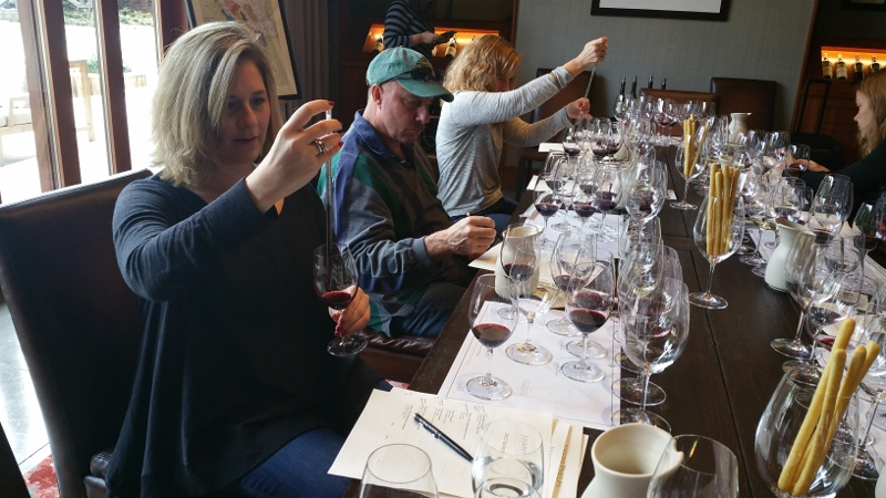 Blending the wines