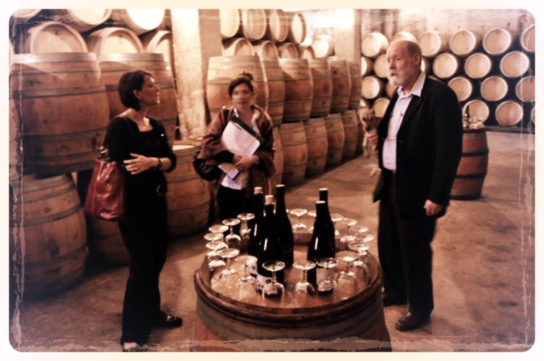 Tasting with owner/winemaker Monsieur Bernard Hudelot, Chateau Villars Fontaine, Villars Fontaine, France
