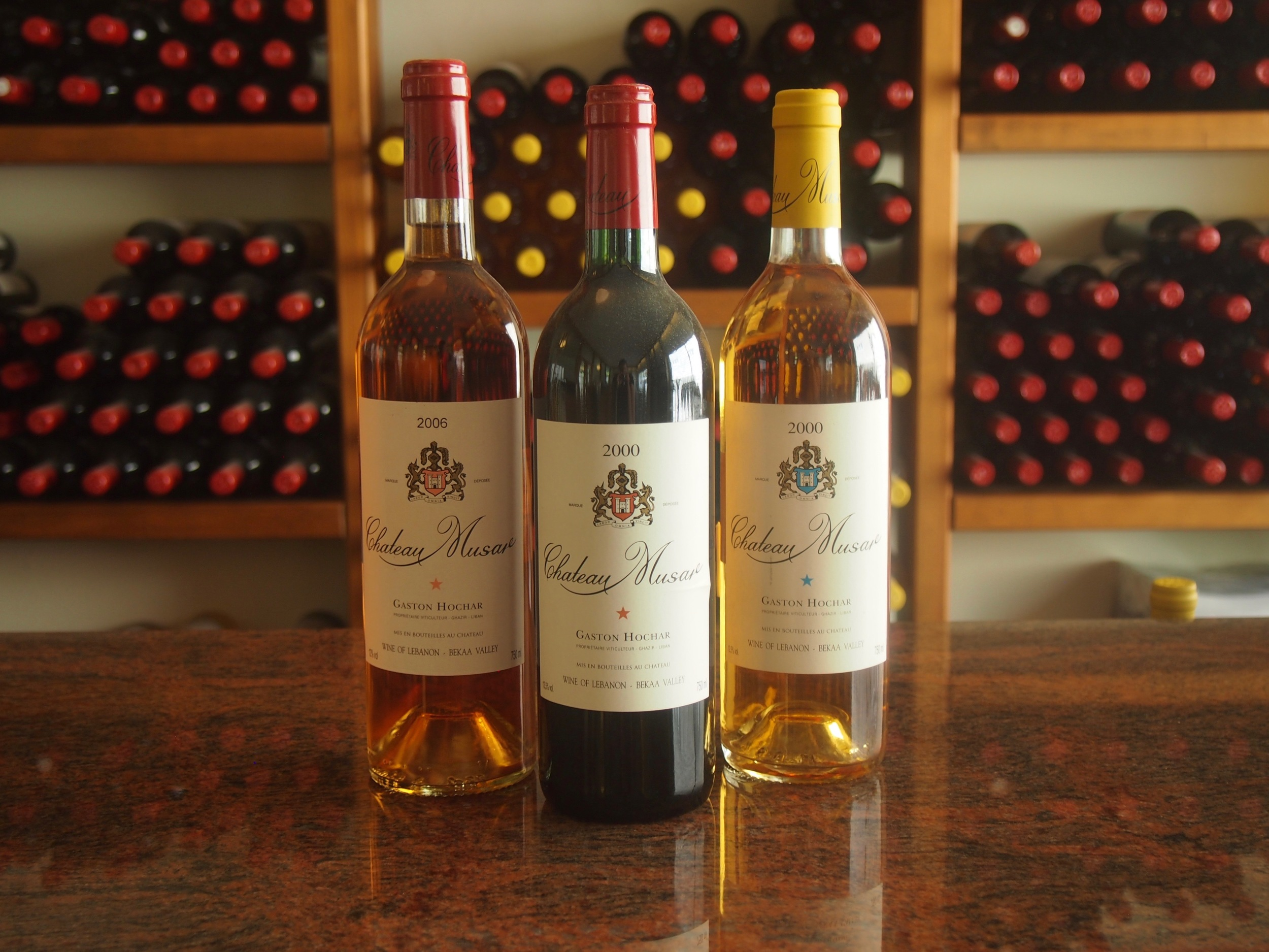 Chateau Musar's cellar door