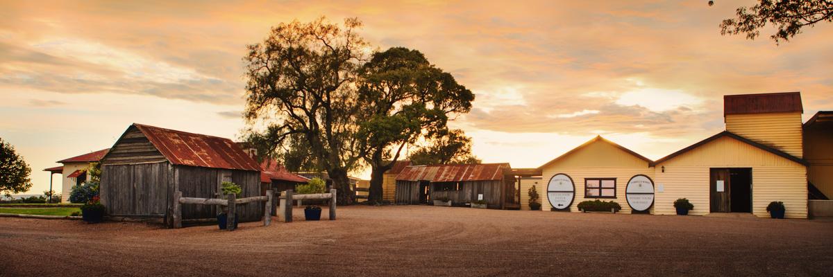 Tyrrells Wines - Cellar Door and Old Hut at sunrise | Photo Credit: Tyrrells Wines