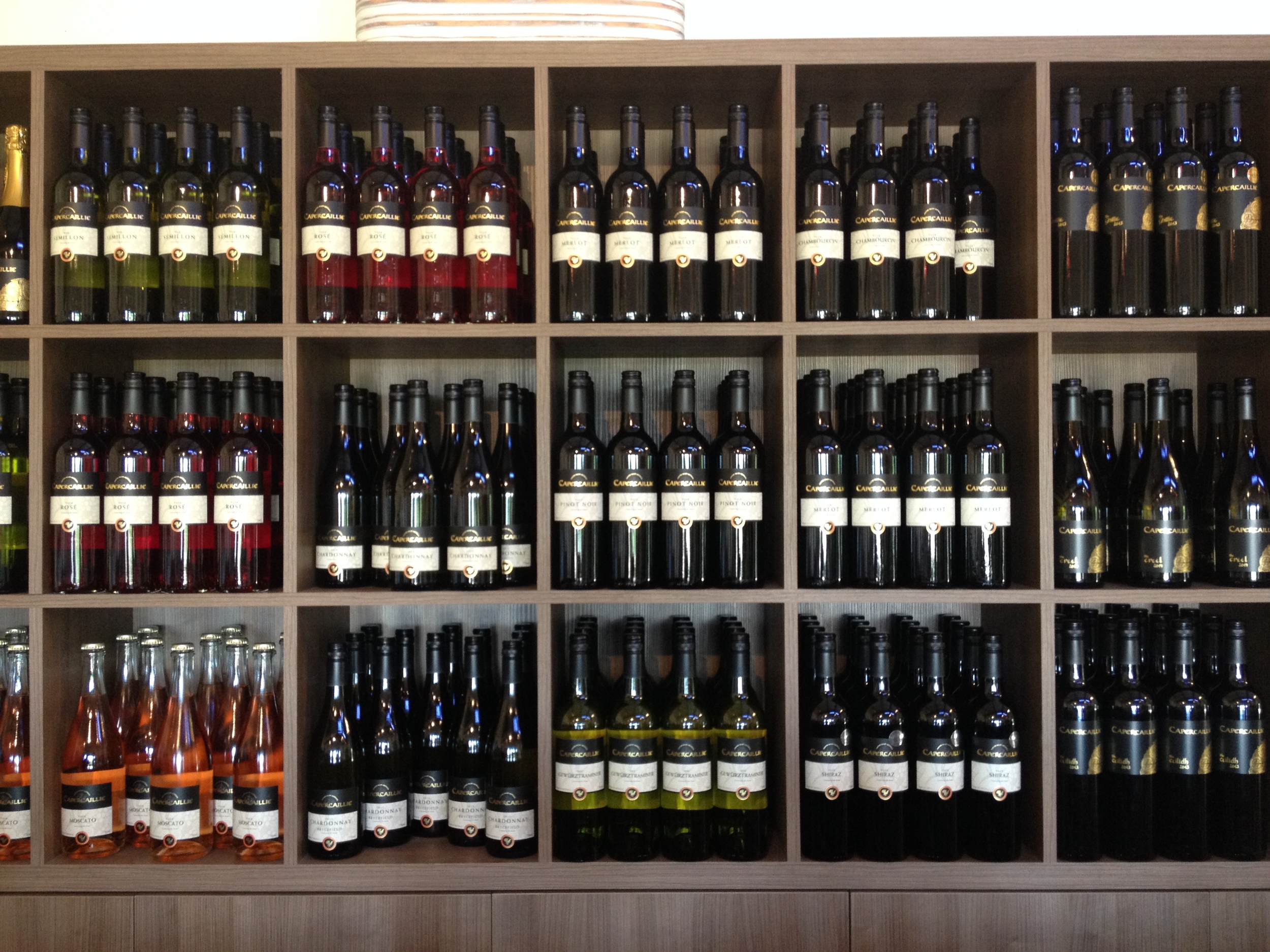 Wines at Capercaillie Wines