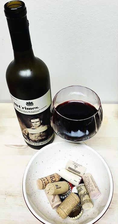 I cannot lie, I am a huge fan of the 19 Crimes Red Blend. That being said, I felt it appropriate to picture one of my favorites with the start of my roommate and I's cork collection after living together for a week.
