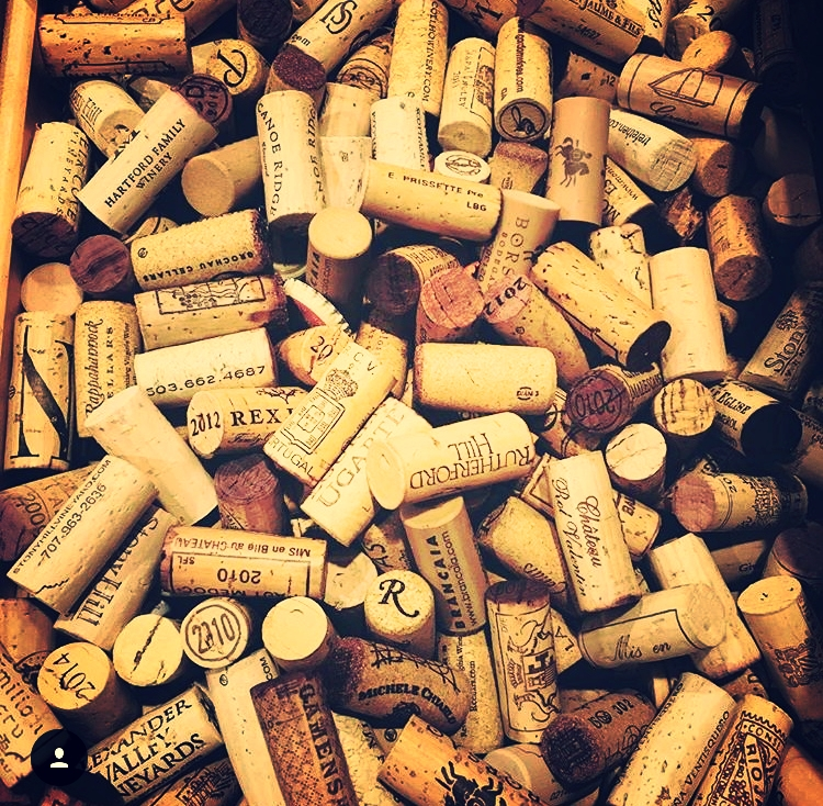I kid you not, this isn't even half of the drawer full of corks at my parents house. (Not pictured- the multitude of cork projects laying around the house).