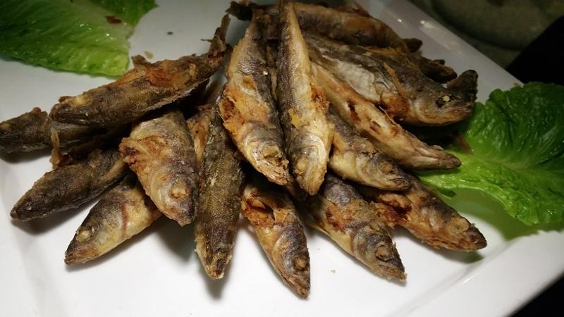 Fried fish at Pergola Restaurant at Porto Carras.jpg