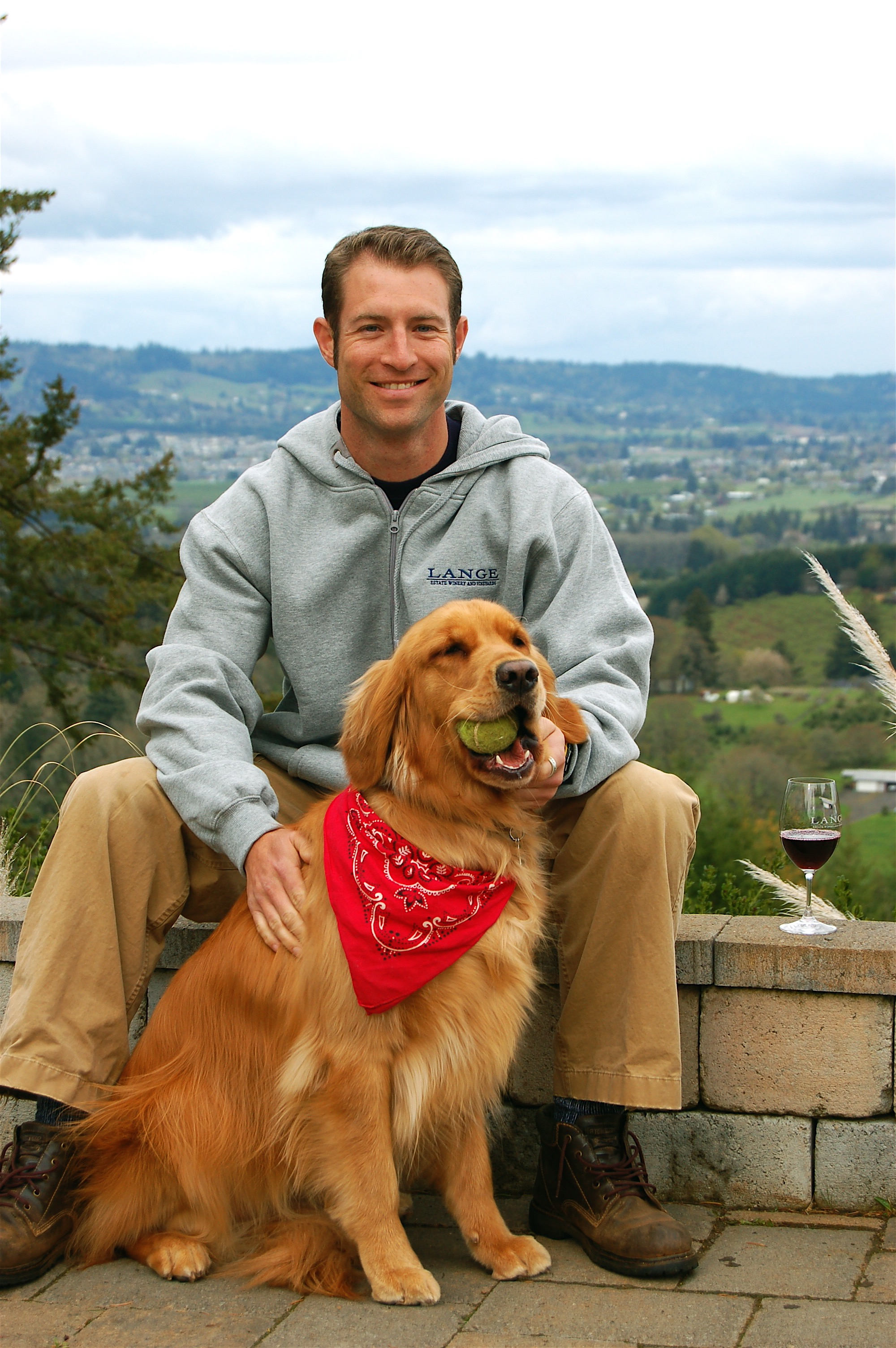 Jessie Lange and Maggie | Photo Credit: Lange Estate Winery