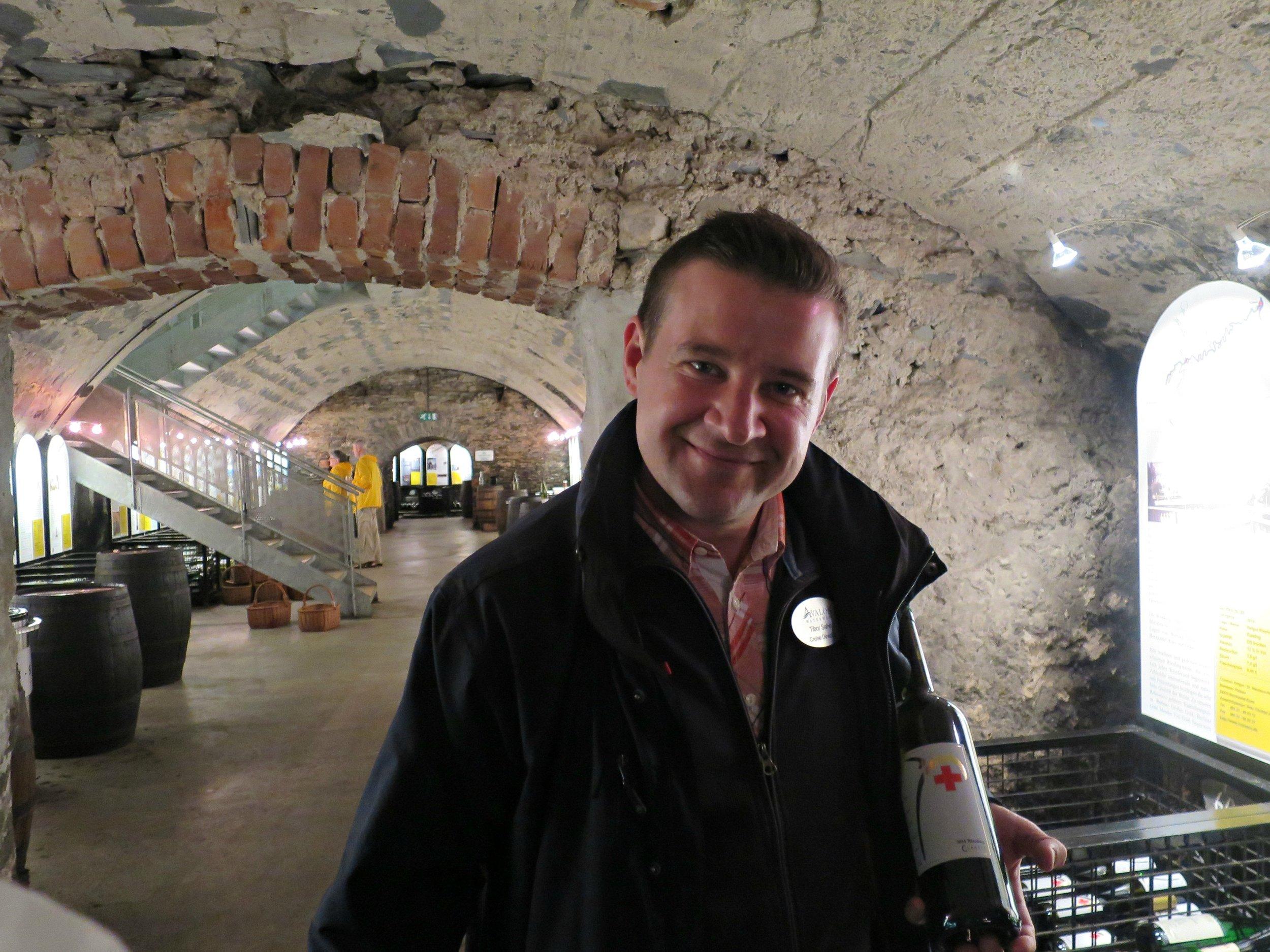 Vino Thek 4 with Tibor with a Doktor wine.jpg