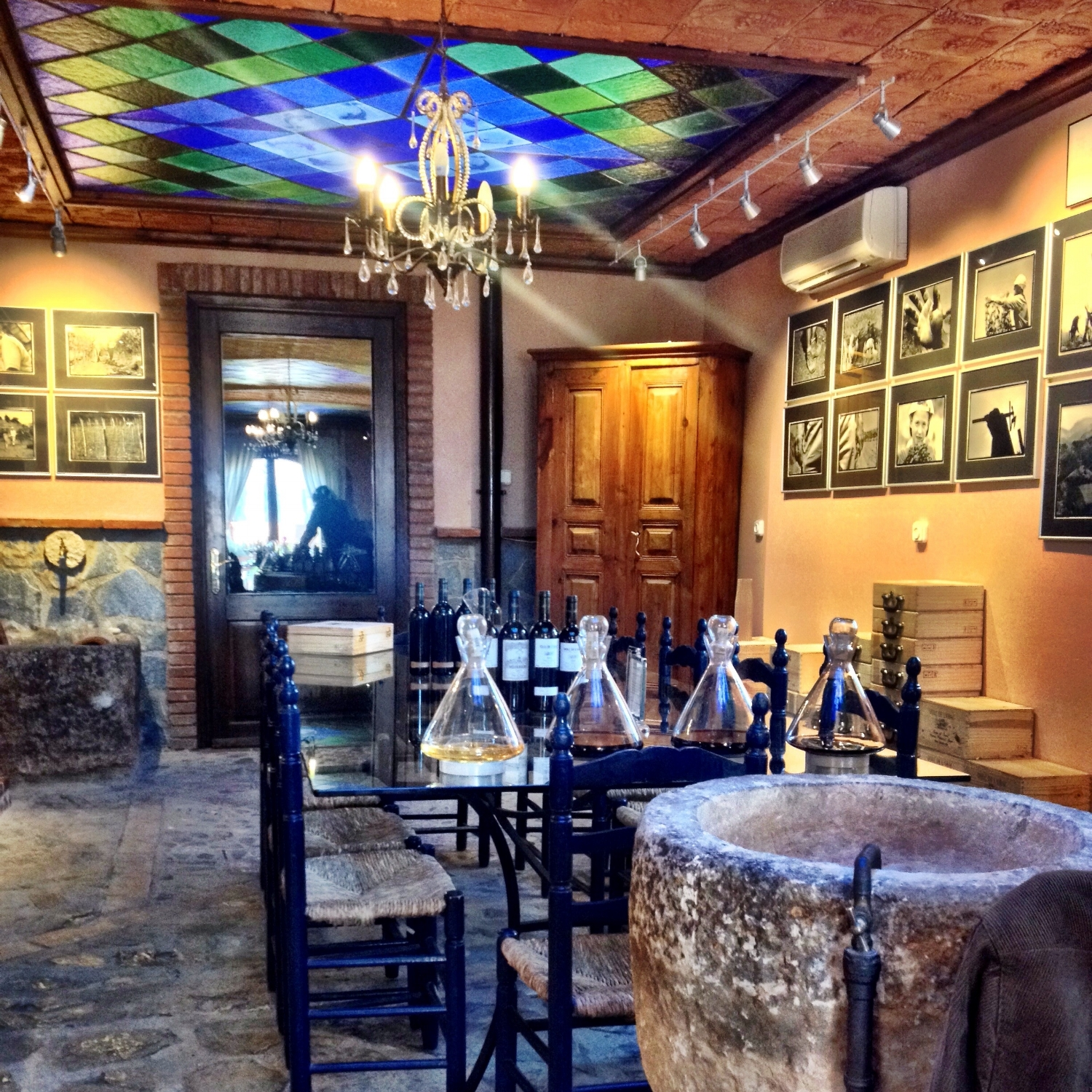 Beautiful tasting room at Costers del Siurana_Clos de l'Obac way up in the hills in Priorat, where we had the chance to taste with owner Carles Pastrana