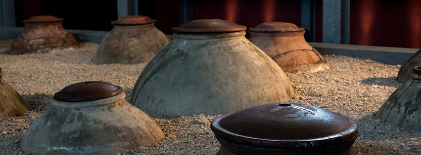 Amphorae at Zorah's winery in Armenia, Near the Areni Cave
