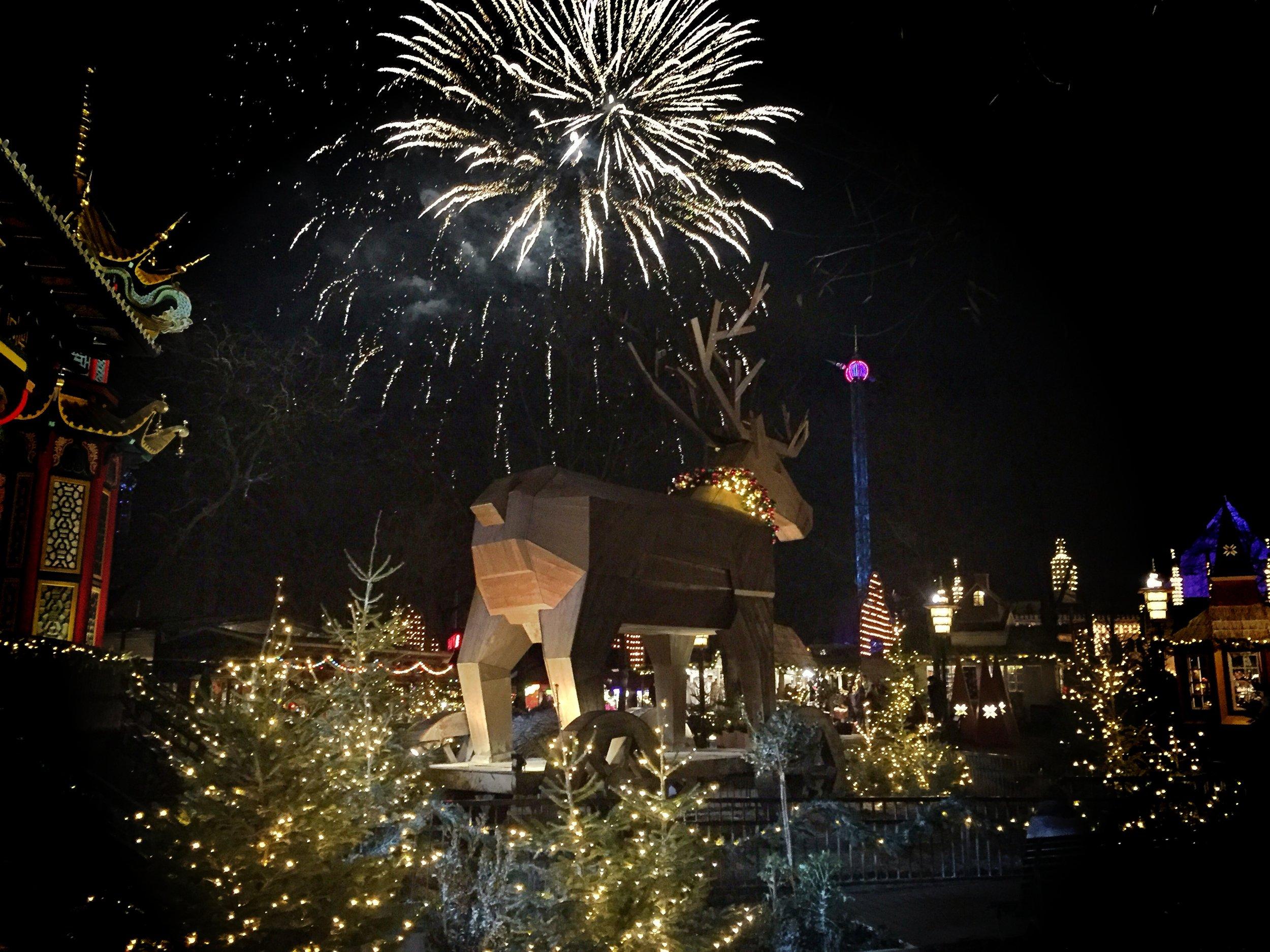Nightly Fireworks at Tivoli