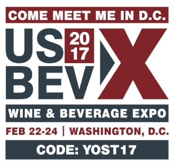 The U.S. Wine & Beverage Expo has opened up registration to readers of Wine Tourist Magazine by offering a promo code for FREE tradeshow floor passes and 50% off conference passes. This is a great opportunity to expand your brand into the Eastern and Midwestern areas of the United States.  Register today and Join the Quality Revolution!  ENTER THE  CODE: YOST17