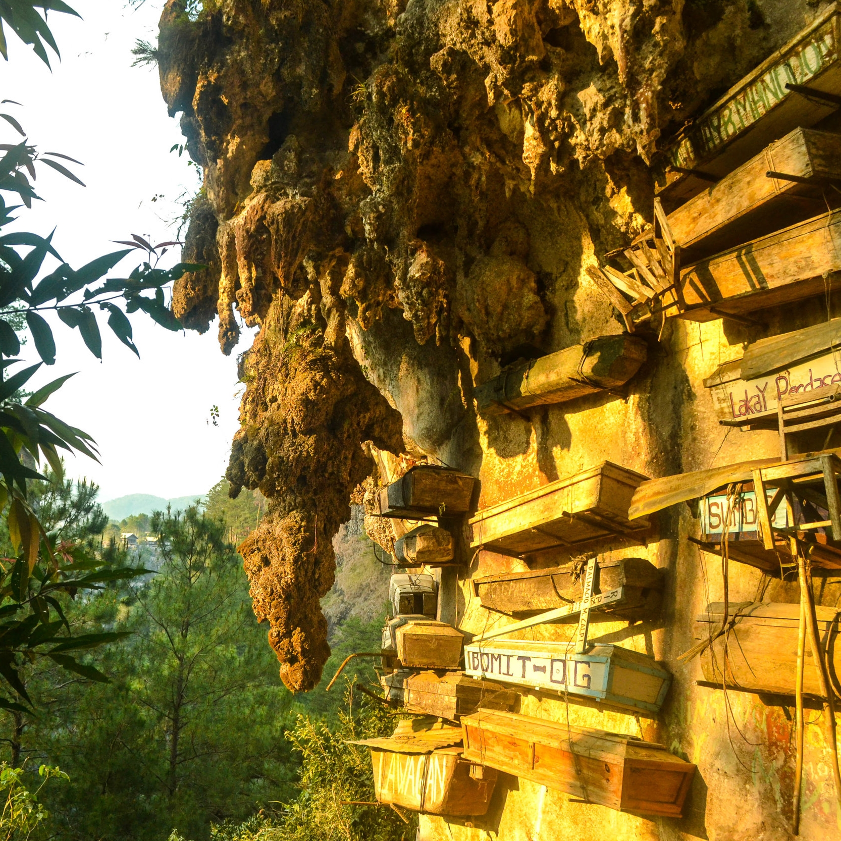 Libingan (Cemetery) - Hanging coffins is a cemetery in Sagada, Philippines