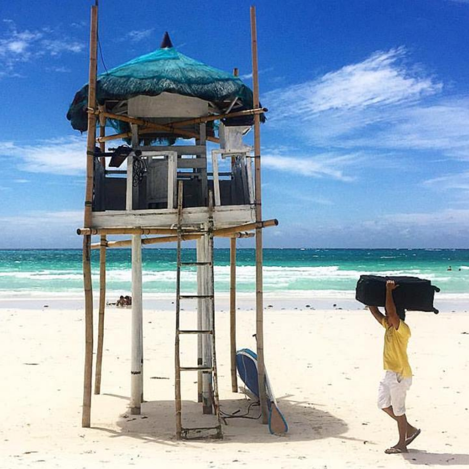 Kargador (Porter) - Helping tourists of Boracay Island, Philippines