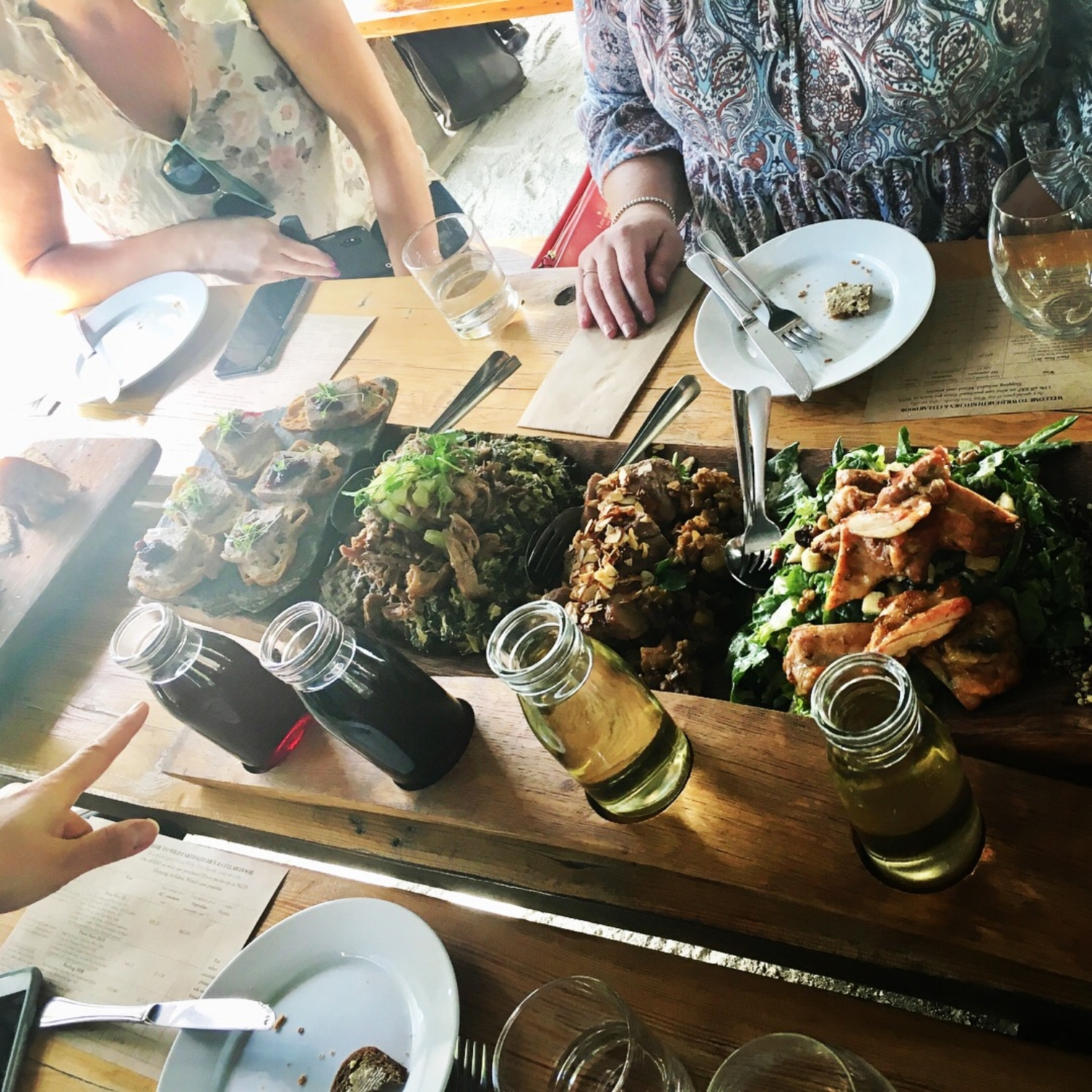 Our delicious Wine Tasting Lunch (c/o NZ Wine Tours), prepared by Wild Earth Wines.