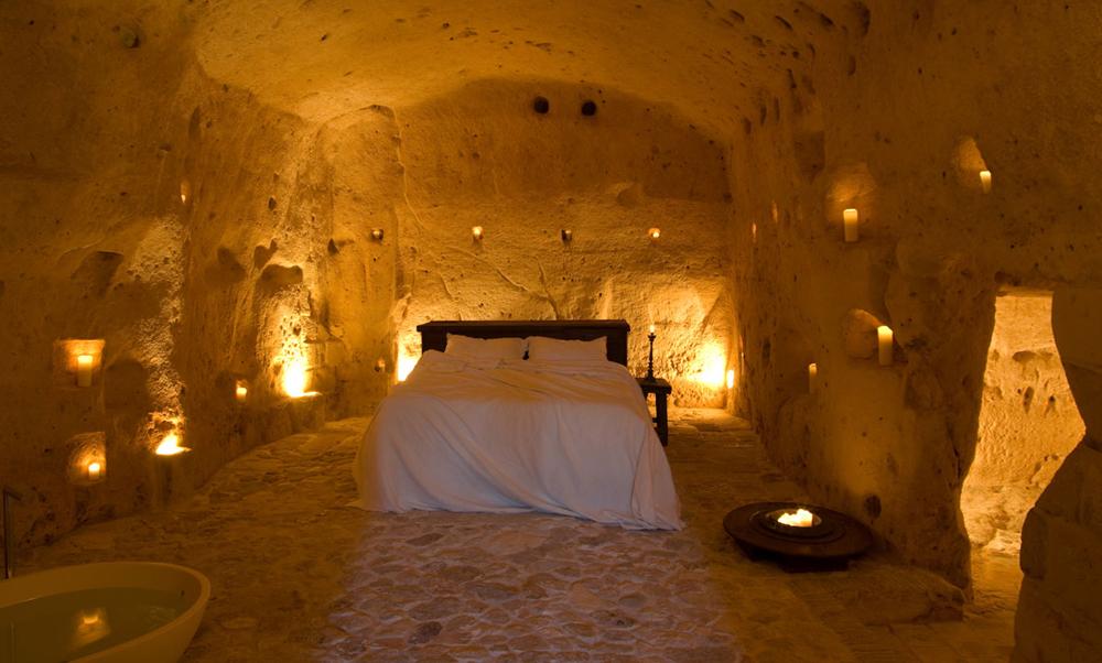 Accommodations at Sextantio Grotte Civita Matera