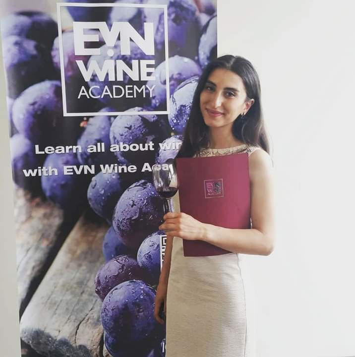 At the EVN Wine Academy graduation celebration.