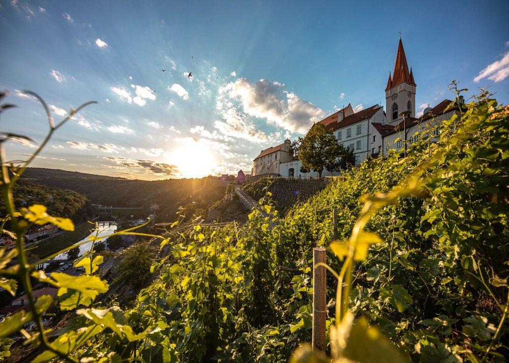 The walled wine town of Znojmo in Moravia, Czech Republic.