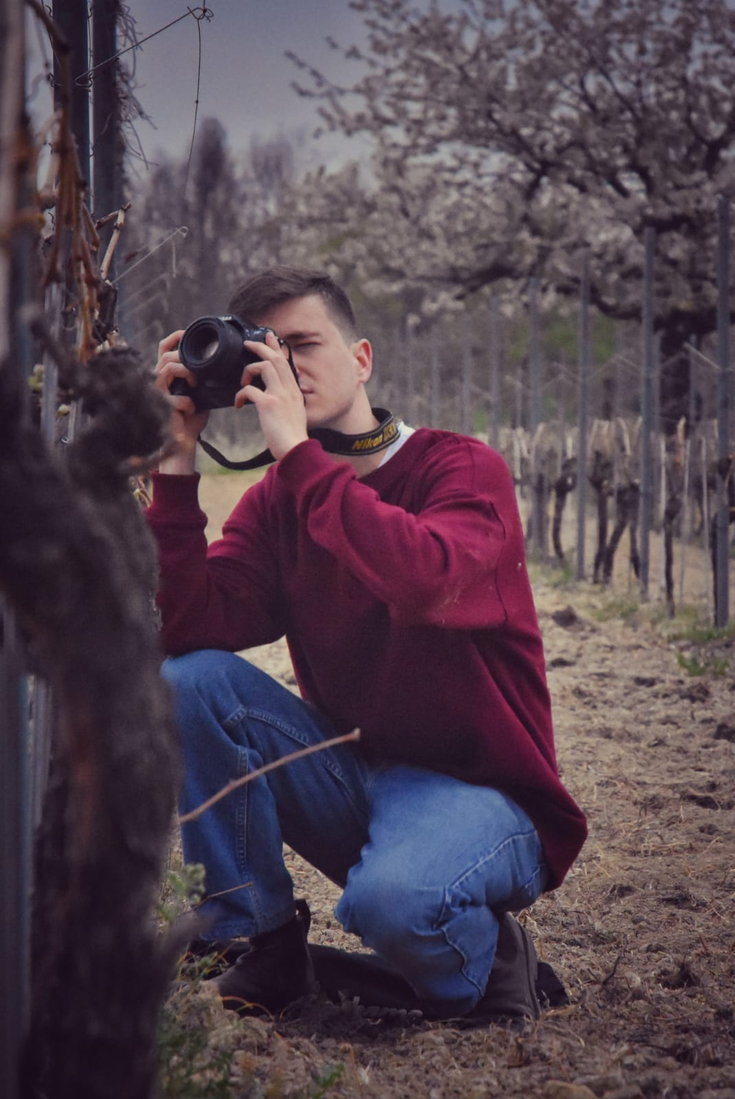 Taking photos in amongst the vineyards of the Monferrato hills, a beautiful wild region of impenetrable forests and cute hilltop villages sidelined by the success of the Langhe. Credit @_shapeless_dude_
