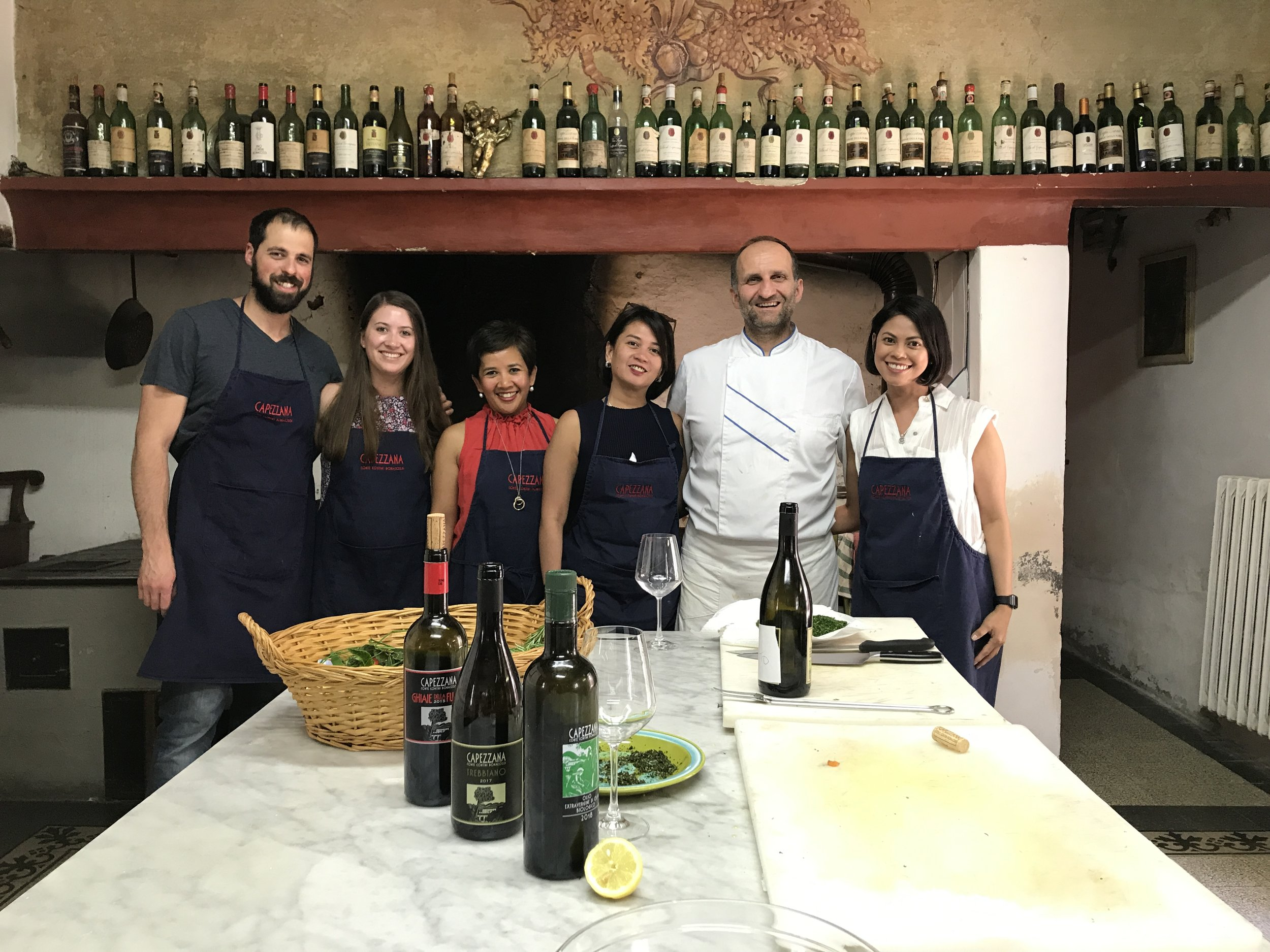 Our cooking team for the day, with Chef Patrizio.