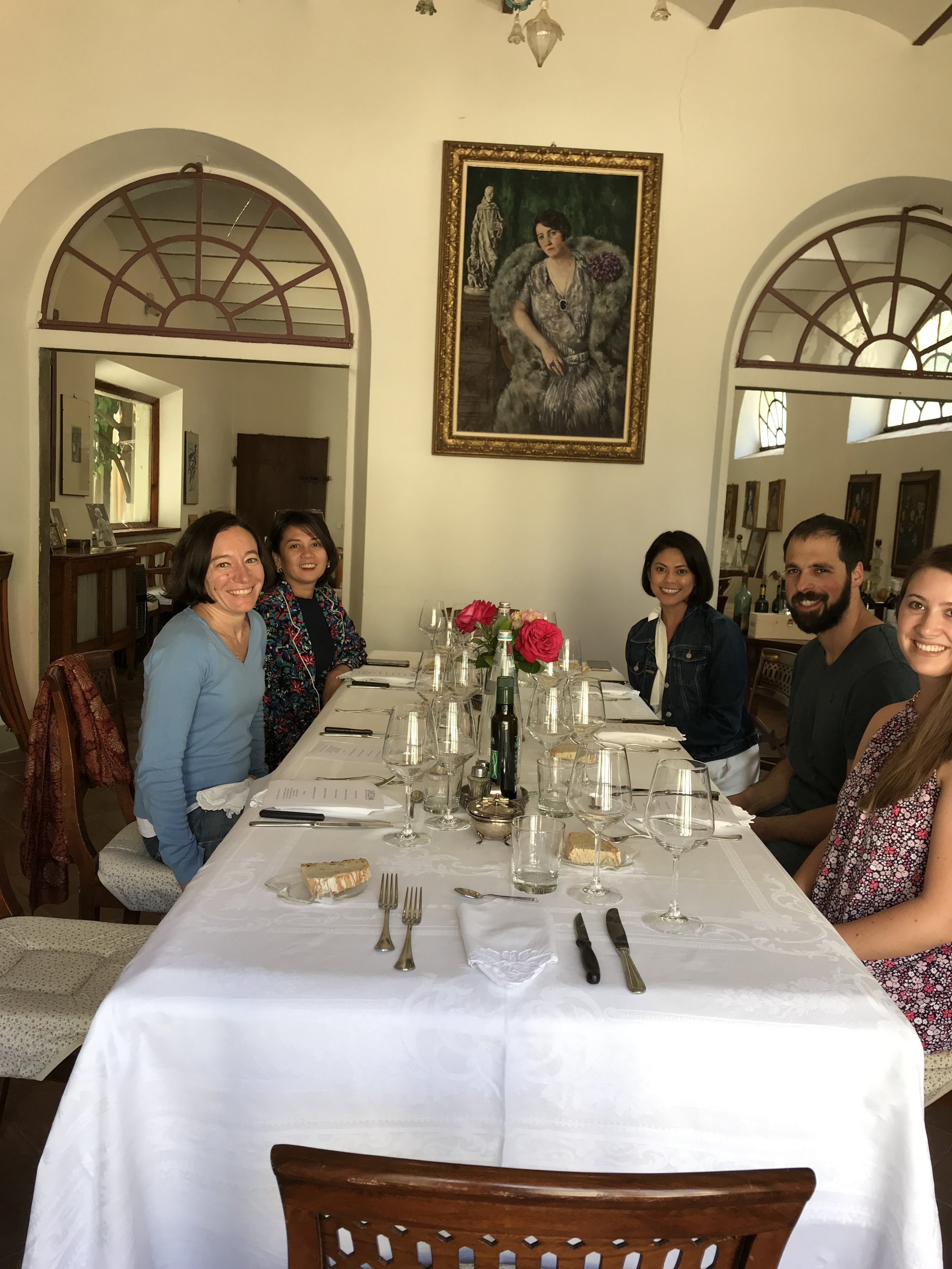 Lunch with our host, Serena Contini Bonacossi.