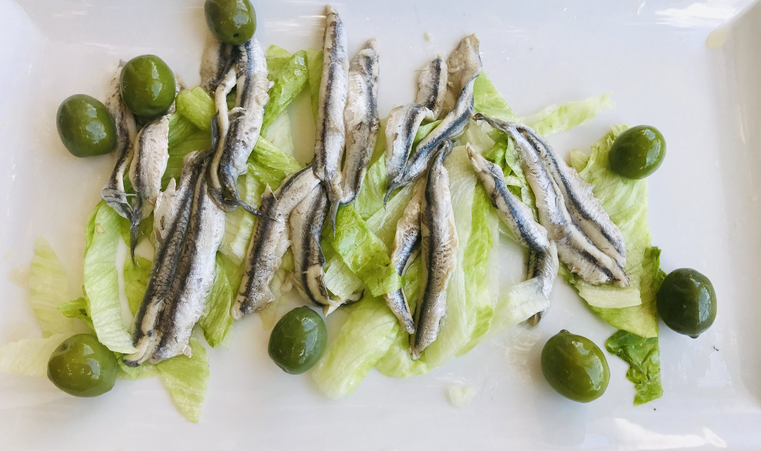 White anchovies for lunch