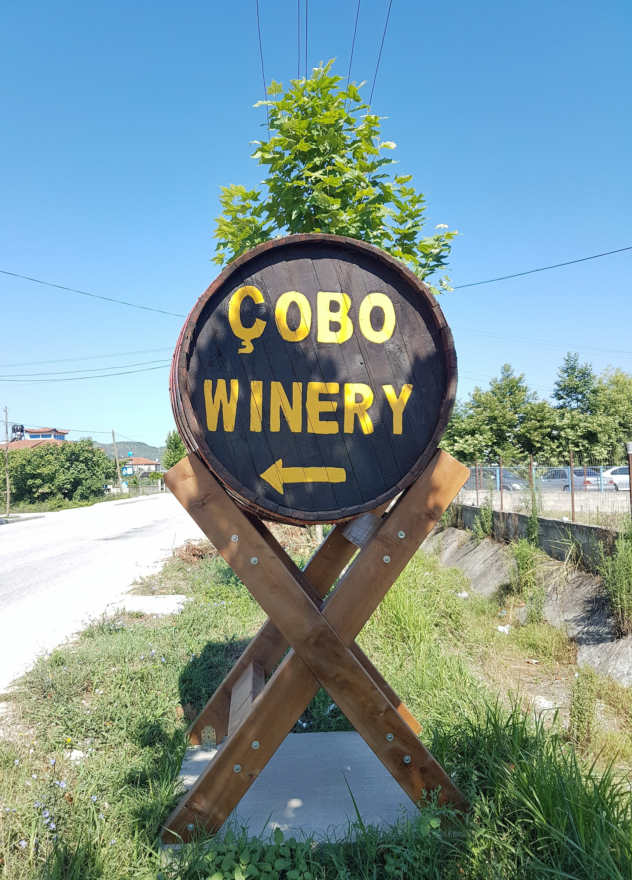 Signage for Cobo Winery.
