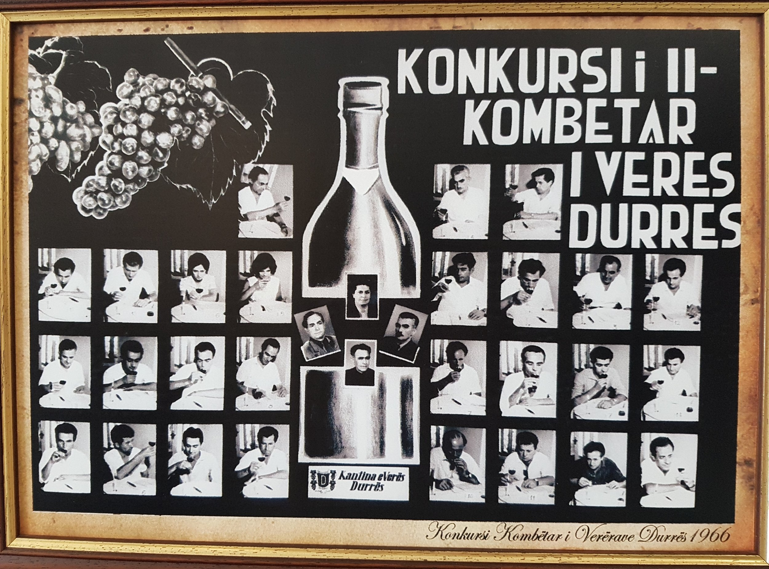 1966 Poster-Second National Wine Contest, Durrës