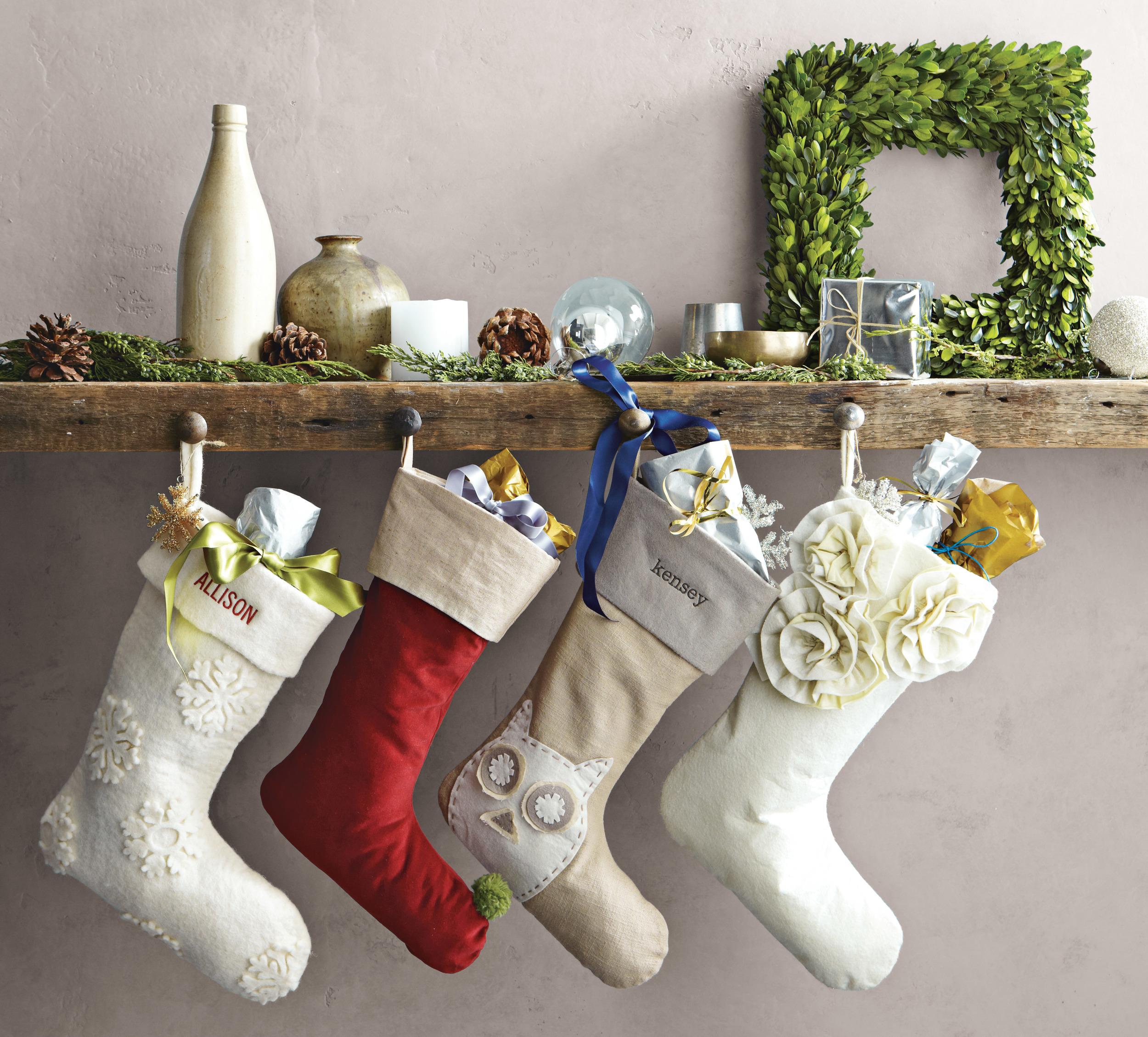 velvet stockings from West Elm