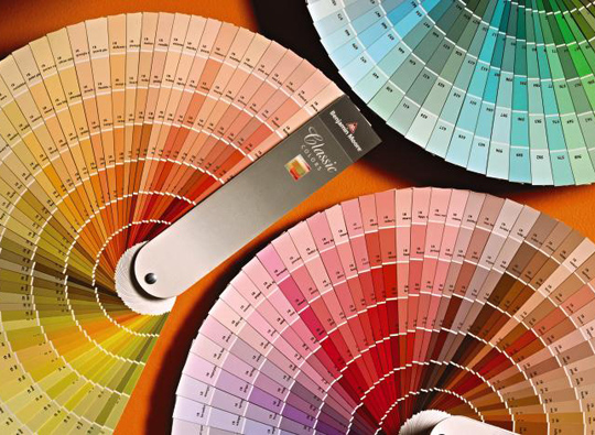 So many colors! How do you select the right ones? Photo: Benjamin Moore.