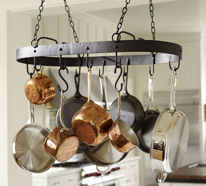 Pottery Barn Blacksmith Pot Rack.