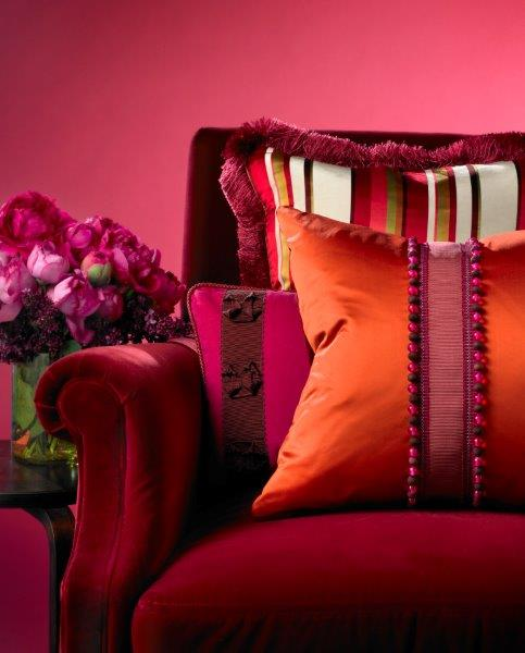 Change the look of a sofa and the entire room with multiple applications of fabric. Photo: Kravet