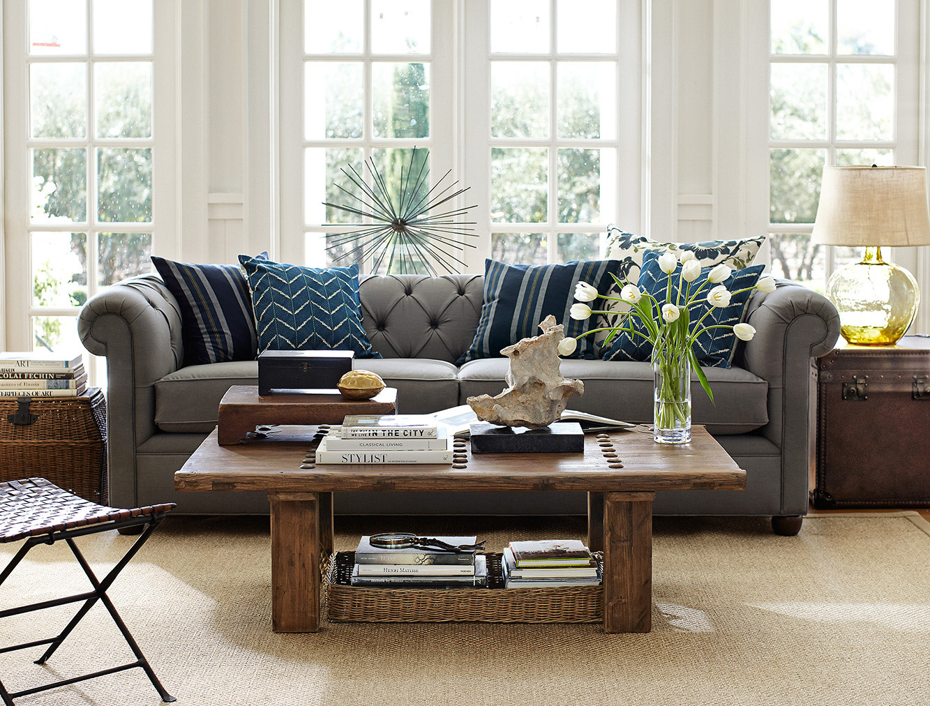 Chesterfield sofa from Pottery Barn. Photo: Pottery Barn.