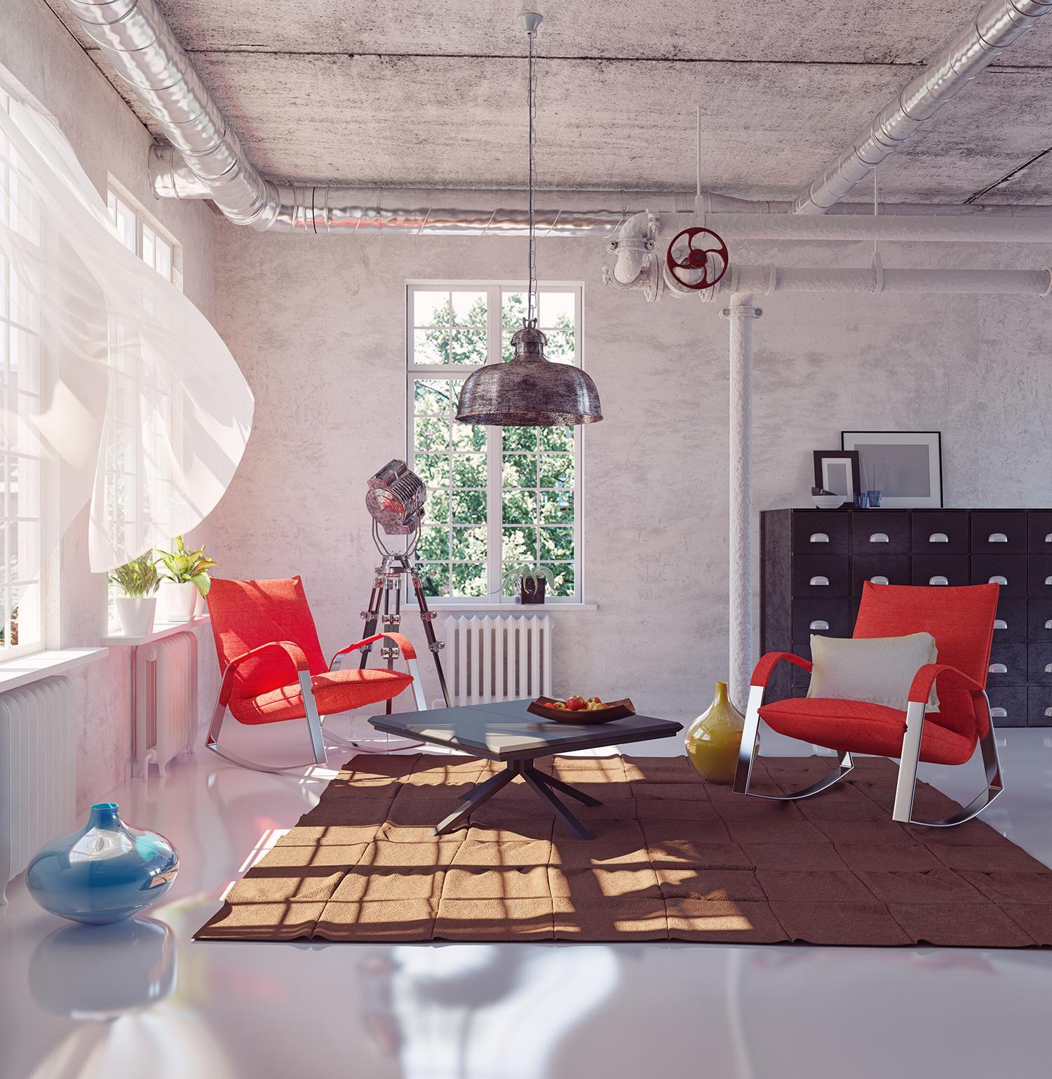 Pretty loft room