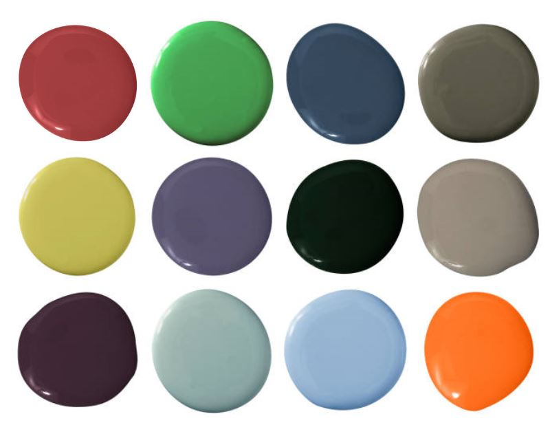 Pick a bold, fun color for your front door. One that you love but might not use inside your home.