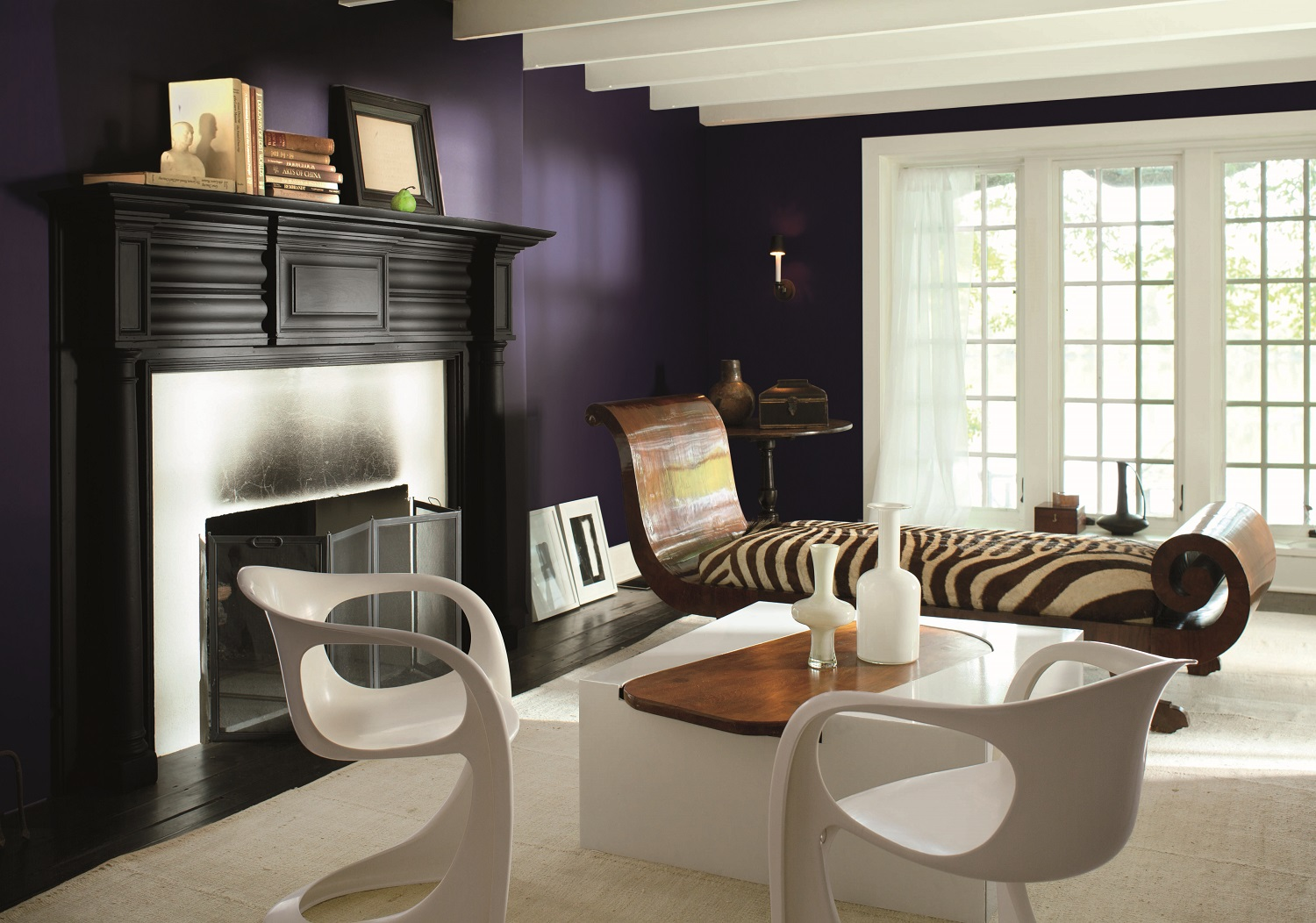 Benjamin Moore has announced its Color of the Year 2017 – Shadow 2117-30, a rich, royal amethyst, a shadowy, brooding, deep color that speaks for itself. Photo: courtesy of Benjamin Moore.