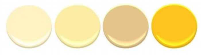 benjamin-moore yellow-samples