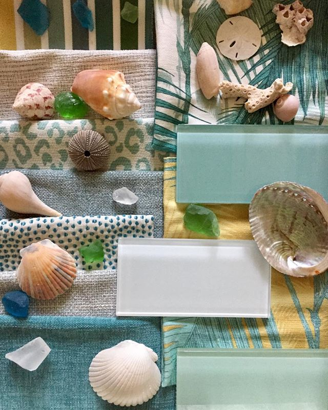 Client's Inspiration board with a coastal twist.  #makeityours #backsplash #fabric #color palette  #visual #interiordesign #homedecor #styleyourhome #homesweethome #homeinspiration #loveyourhomeagain #southwestfloridadecorator #colorchangeseverything #interiordecorating #spectacularspaces