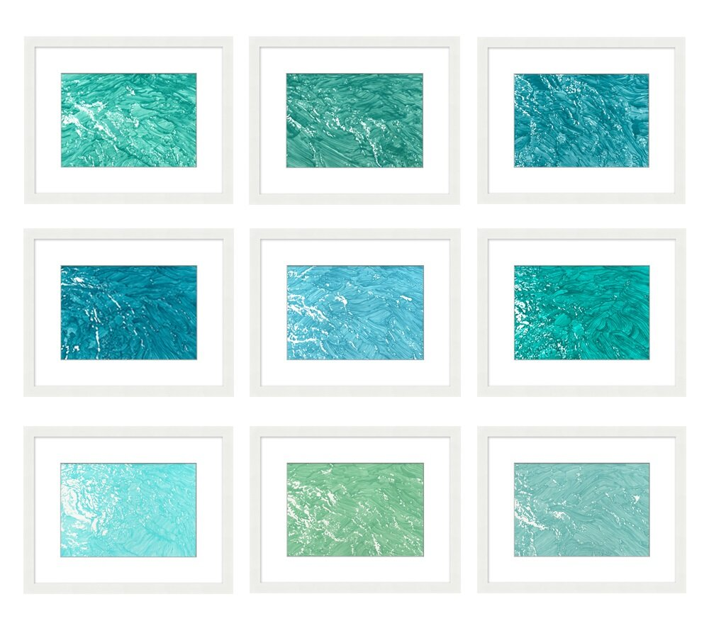 Wait until you find artwork that means something to you...rather than purchasing just to fill a space. Waves wall art by Pottery Barn.