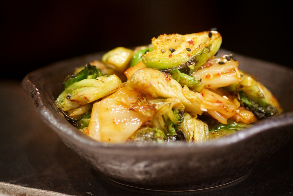 kimchee brussel sprouts
