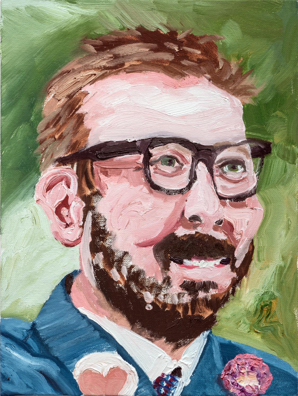 "John | oil on canvas 12"" x 9"""