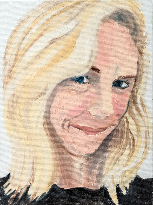 "Susan | oil on canvas 12"" x 9"""