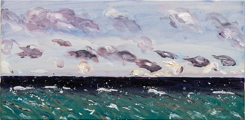 "Bermuda Day | acrylic on canvas 12"" x 24"""