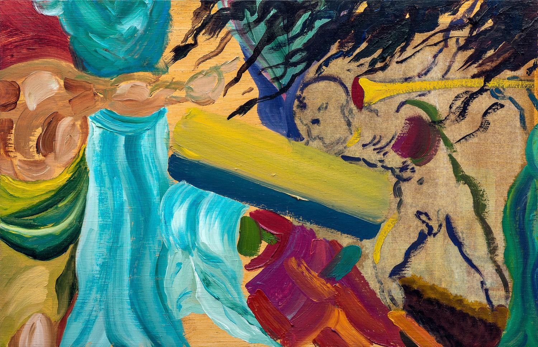 "Second Arpeggio | oil on wood 12"" x 18.5"""
