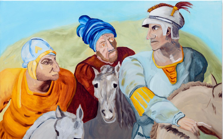 "Three Primaries | oil on canvas 30"" x 48"""